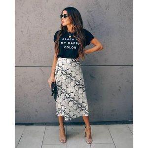 Vici Snakeskin Skirt
